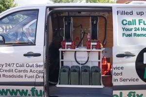 Fuel Fix Van displaying equipment