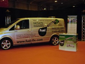 Fuel Fix Van at business show