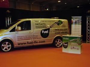 Fuel Fix Van at business show