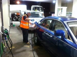 Fuel Fix van and engineer at work