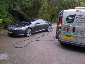 Fuel Fix van at work